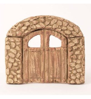 Miniature White Terra Cotta Door 8x1x8.5 inch. Pg.62 - On Sale 50 percent off original price 15.3