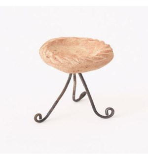 Miniature White Terra Cotta/Wire Bird Bath 2x3 inch. Pg.62 - On Sale 50 percent off original price 3