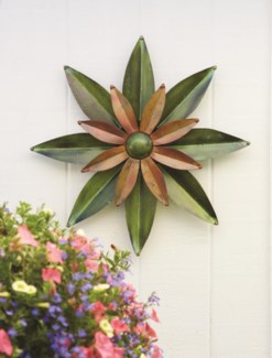 Green/Flamed Dahlia Wall Decor 21D inch. Pg.29