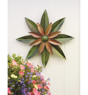Green/Flamed Dahlia Wall Decor