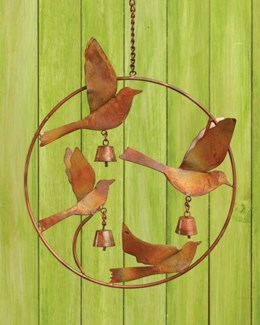 Flamed Hummingbirds Ornament - 12x3x22 inches