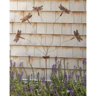 Flamed Whimsy Dragonfly Flutterer Garden Stake 20x55 inch. Pg.41 - On Sale 50 percent off original p