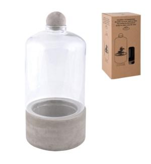 Bottle terrarium concrete base