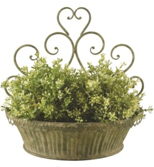 AM Green wall planters S set/2 - (10.6x6x12.7 / 13.3x7.1x13.3 inches)