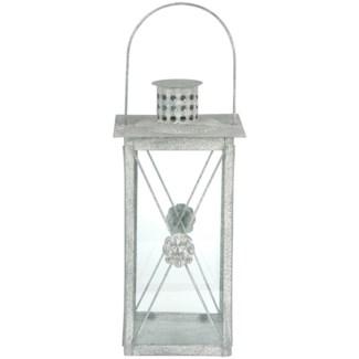 AM lion lantern - 7.25x7.25x14.75 inches