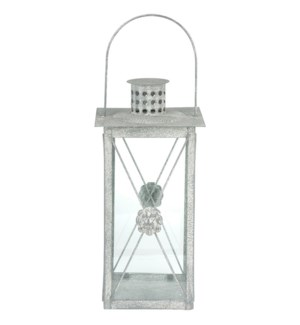 AM lion lantern - 7.25x7.25x14.75 inches