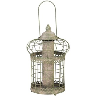 AM green squirrel proof seed feeder -9.1x9.1x14.2in.