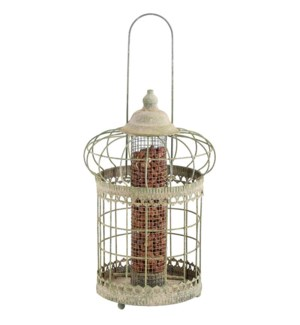 AM green squirrel proof nut feeder -  9.1x9.1x14.2in.