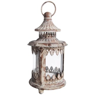 Aged Metal lantern S. Low carbon steel, glass. 10,8x10,8x20,6cm. oq/12,mc/12