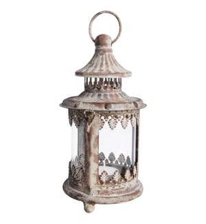 """Aged Metal lantern S. Low carbon steel, glass. 10,8x10,8x20,6cm. oq/12,mc/12"""
