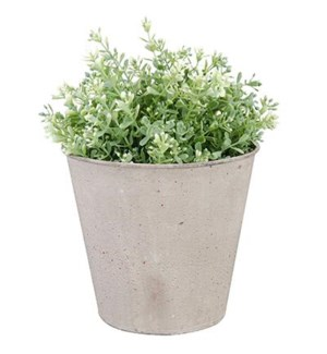 Aged Metal flowerpot. Aged Metal. 17,0x17,0x15,2cm. On sale 35% off!