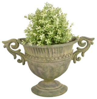 Aged Metal Green wall urn. Aged Metal. 35,3x12,2x21,8cm. oq/12,mc/12