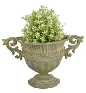 """Aged Metal Green wall urn. Aged Metal. 35,3x12,2x21,8cm. oq/12,mc/12"""