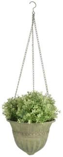 Aged Metal Green hanging basket L. Aged Metal. 30,0x30,0x18,7cm. oq/6,mc/12 Pg.112