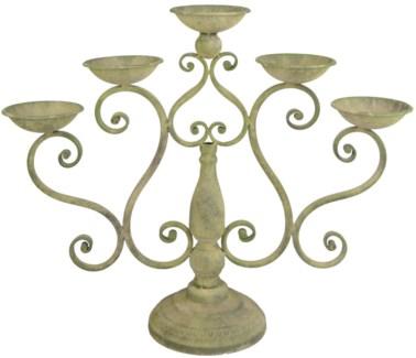 Aged Metal Green candelabra. Aged Metal. 53,0x15,7x43,5cm. oq/4,mc/2 Pg.113