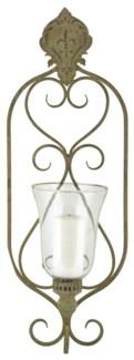 Aged Metal Green wall lantern - (9.4x6.1x26.6 inches)