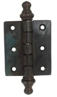 Iron Door Hinge, Natural Black. 2.5x4inch.