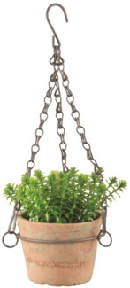Aged Terracotta pot hanging S -  (4.6x5x3.3 inches)