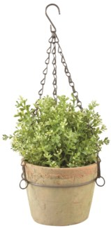 Aged Terracotta pot hanging L -  (6.4x6.7x4.7 inches)