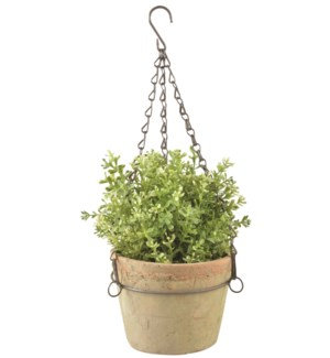 Aged Terracotta pot hanging L