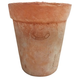 Aged Terracotta long tom - 5.25x5.25x6.5 inches
