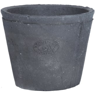 AT grey�pot round, Terra cotta - 6.4x6.4x5in.