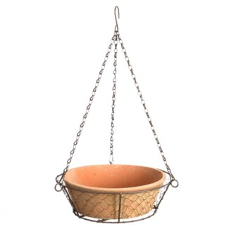 AT bowl in hanging wire basket
