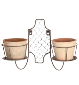 AT wall chandelier with 2 pots