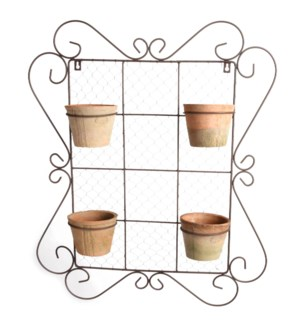 AT wall frame with 4 pots