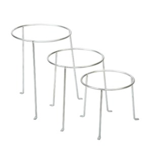 Flower pot stand set of 3 - (7.3x7.2x7.2, 8x7.7x8, 9x9x10 inch)
