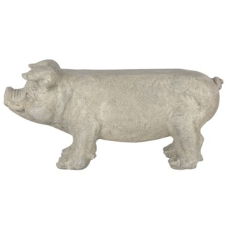 Bench pig. Fiberstone. 77,0x23,9x36,5cm. oq/1,mc/1 Pg.142