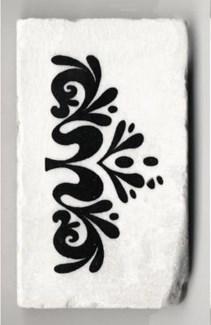 1/2 endcap,2x4 tile,bianca