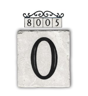 """0,classic marble number tile"""