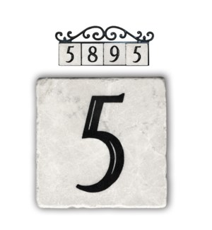 """5,classic marble number tile"""