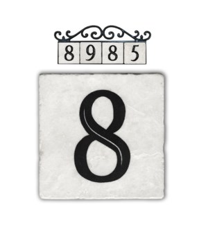 """8,classic marble number tile"""