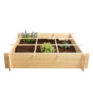 Wooden square meter garden. Pi
