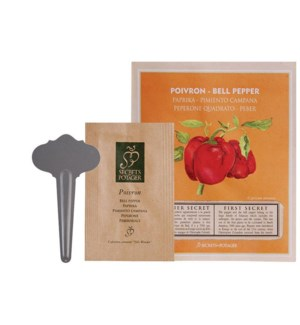 Seed packet Bell pepper. Seeds