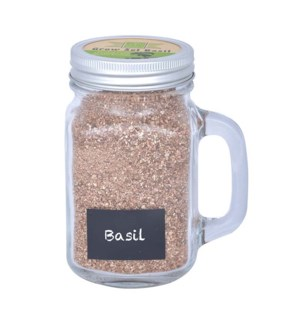 Grow set in garden mug basil.