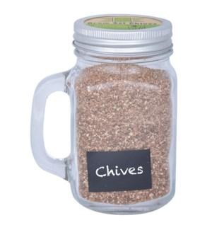 Grow set in garden mug chives.