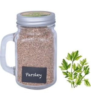 Grow set in garden mug parsley