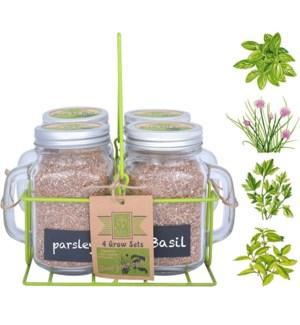 4 Garden mug grow sets in carr