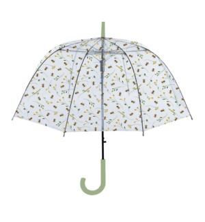 Bee print transparent umbrella