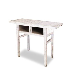 """William Console Table,White Pinewood"""