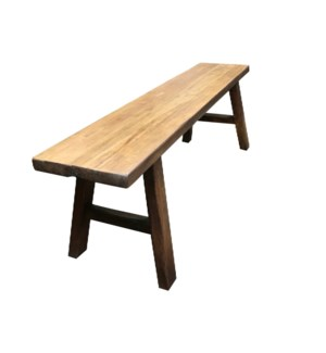 """Midwich Natural 2 Tone Bench, Natural/Brown"""