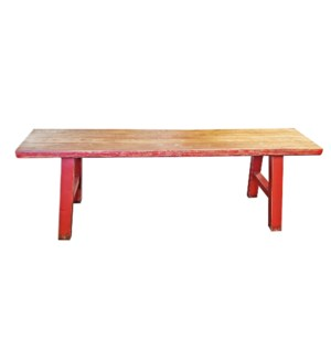 """Midwich Natural 2 Tone Bench, Natural/Red"""