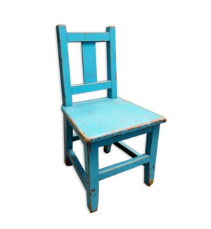 Antique Child Chair Blue