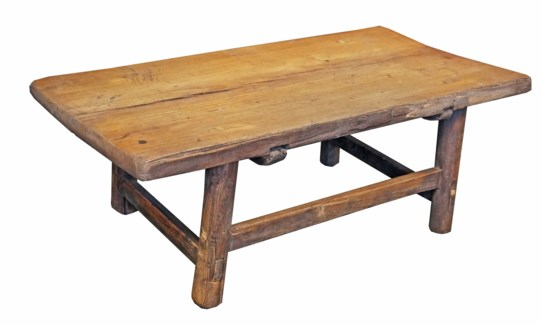 Antique Wooden Coffee Table Extra Small 31x16x10.75inch