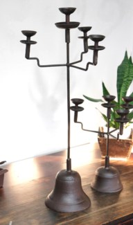 Antique Candelabra, metal, 32 tall