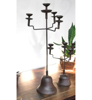 """Antique Candelabra, metal, 32 tall"""
