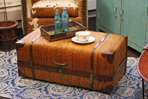 Rattan Trunk, 35x19.7x15 Inches